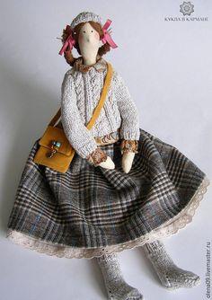 """Куклы Тильды ручной работы. Ярмарка Мастеров - ручная работа. Купить Тильда """"Девочка"""" РЕЗЕРВ. Handmade. Коричневый, кукла Тильда"""