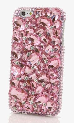 Pink Stones Design bling case made for iPhone 6. Gift this crystal bling phone case to your love/ family. http://luxaddiction.com/collections/3d-designs/products/pink-stones-design-style-810