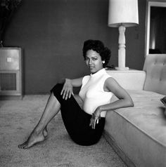 The one and only Dorothy Jean Dandridge was born on this day 90 years ago in Cleveland, Ohio. She is pictured at home in 1954 in a photo by Allan Grant. Photo: Time & Life Pictures/Getty.