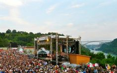 Artpark in Lewiston, NY offers live music during the summer month.