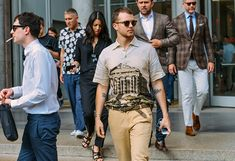 Parthenon temple shirt, Tommy Ton Shoots Street Style at the Spring 2015 Menswear Collections