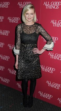 Kirsten Dunst shines at the All Good Things premiere