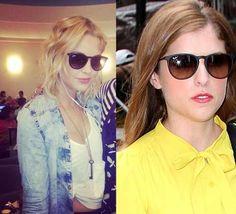 "Anna Kendrick -- Ray-Ban 4171, ""Erika"" sunglasses."