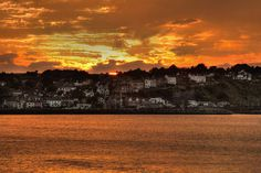 Sunset over Ballycastle, County Antrim, Northern Ireland.