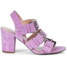 Sable Sheer Lilac ($70) ❤ liked on Polyvore featuring shoes, sole society shoes, lilac shoes, transparent shoes, see-through shoes and suede shoes