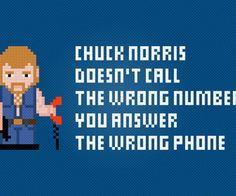 Chuck Norris Cross Stitch Free PDF Pattern