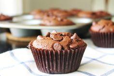 Chocolate Peanut Butter Muffins ~ no flour, naturally gluten free