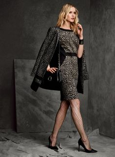 Leopard Print Sheath Dress, Black, hi-res Sheath Dress, Fashion Dresses, Dress Black, How To Wear, Clothes, Style, Outfit, Clothing, Kleding