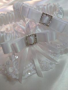 "The "" Sasha "" White Garter Set. Ships worldwide. Wedding Garters of distinction. https://www.etsy.com/listing/200449769/the-sasha-white-garter-set?ref=shop_home_active_6"