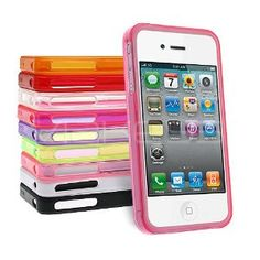 10 x Colourful Gel Bumper Case Bundle for Apple iPhone 4S / iPhone 4 with Screen Protector