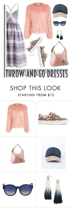 """Throw-and-Go Dress 😀"" by ragnh-mjos ❤ liked on Polyvore featuring WithChic, Roger Vivier, Gucci and BaubleBar"