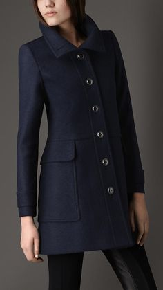 Burberry London Tailored Wool Coat - classic