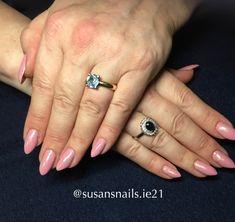 Gel nails - medium pink shimmer