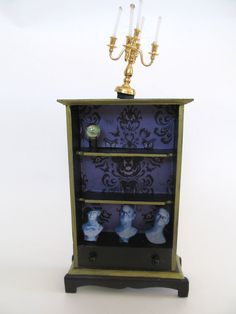 Haunted Mansion Miniature Cabinet-Disney's Haunted Mansion Cupboard in 1:12 Scale