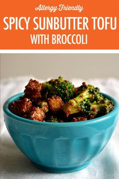 Spicy Sunbutter Tofu With Broccoli Tasty Vegetarian Recipes, Tofu Recipes, Side Dish Recipes, Snack Recipes, Side Dishes, Dinner Recipes, Fruit And Veg, Fruits And Veggies, Vegetables