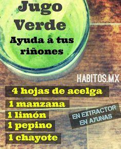 Jugo Verde para los riñones... de habitos.mx