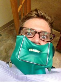 I love when patients take selfies in the chair!  Cracks me up!
