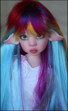 Ball Jointed Dolls, wigs, shoes and clothes Weird Creatures, Fantasy Creatures, Elves And Fairies, Doll Dress Patterns, Cute Monsters, Doll Costume, Dragon Art, Fairy Dolls, Doll Hair