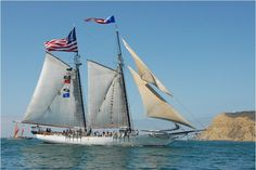 Festival of Sail 2011 - The Bill of Rights enters San Diego Bay during the tall ship parade.