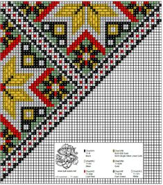 Bead Crochet Rope, Chart Design, Plastic Canvas, Needlepoint, Cross Stitch Patterns, Needlework, Embroidery, Folk Costume, Stitches