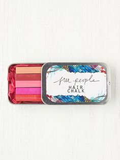 Ombre Hair Chalk! http://www.freepeople.com/whats-new/ombre-hair-chalk/