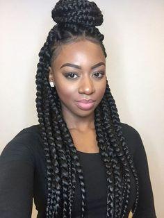 Box Braided Beautiful Style Ladies of Natural Hair Mag, Eunice  #naturalhairmag: