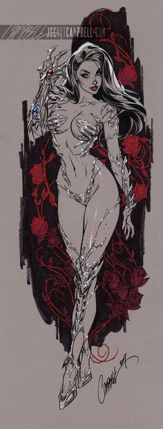 Witchblade by J. Scott Campbell  Auction your comics on http://www.comicbazaar.co.uk