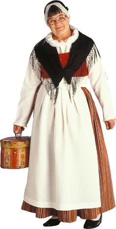 jämsä Folk Costume, Costumes, Folk Clothing, World Cultures, Traditional Dresses, Bell Sleeve Top, Dressing, How To Wear, Folklore