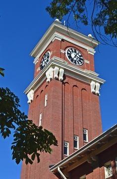 Bryan Hall clock tower on Washington State University campus - Pullman, WA