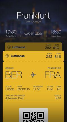 Lufthansa boardingpass