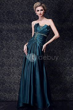 Chic A-Line Floor Length Strapless Dasha's Prom/Evening Dress