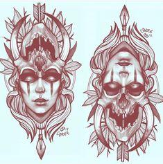 Leg Tattoos, Black Tattoos, Body Art Tattoos, Sleeve Tattoos, Viking Tattoos, Flower Tattoo Drawings, Tattoo Design Drawings, Tattoo Sketches, Witch Tattoo