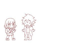 the things i would do to get a danganronpa fighting game games Danganronpa Funny, Danganronpa Characters, Lips Sketch, Nanami Chiaki, Pink Blood, Nagito Komaeda, Chibi, Animation, Fan Art