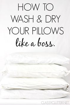 How to wash and dry your pillows. Great spring cleaning tips for your pillows.