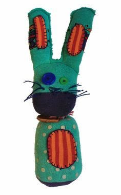 #62 | ferdinand. had he been a clown in his former life? well in this life he is a BunnySock and right from berlin. | BunnySocks.org ... you've found us, you've found a way to #save the #world