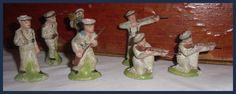 French Terracotta Clay Composition Toy Soldier Figures Figurines. http://smallscaleworld.blogspot.com.es