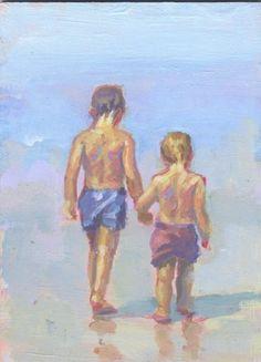 Beach Boys original peinture art plage lucelle raad par LucelleRaad, $150.00