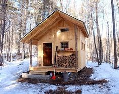 Tiny Cabins, Tiny House Cabin, Cabins And Cottages, Tiny House Living, Tiny House Design, Cabin Homes, Small Cabin Designs, Life Design, Log Cabins