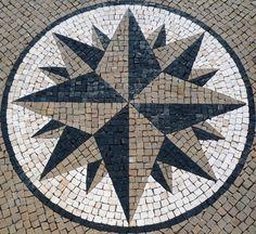 "Detail of paving stones - ""calçada"" - on Lisbon street. Mosaic Diy, Mosaic Garden, Mosaic Glass, Mosaic Tiles, Tiling, Stone Pavement, Paving Design, Garden Mural, Pebble Floor"