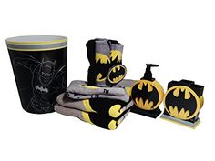 Great Batman bathroom decor with images and recommendations can be found on our website. We have a lot of interesting ideas and tips for decorating Batman bathroom Batman Room, Superhero Room, Batman Vs Superman, Catwoman, Batgirl, Batman Bathroom, Superhero Bathroom, Bathroom Accessories, Home Accessories