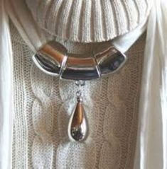 Pack of 12 PendantScarf CCB Plastic UV Silver Water Drop Shape Jewelry Pendant Accessories