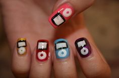iPod nails! If there was a 'love' button, I would sooo click it!:D