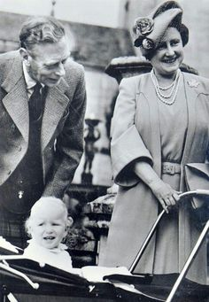 King George VI and Queen Elizabeth with their granddaughter Princess Anne.
