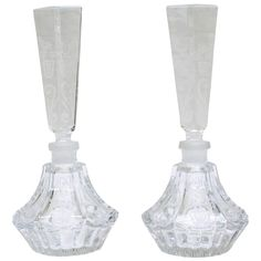 Pair of Baccarat Crystal Perfume Bottles | 1stdibs.com