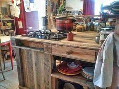 Pallet Mobile Kitchen Island Pallet Desks & Tables Pallet in the Kitchen