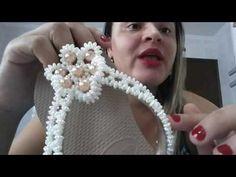 Flor de Pérolas para CHINELOS de um Jeito MUITO rápido - Maguida Silva - YouTube
