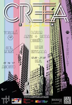 ES OFICIAL! Acompáñanos en CREEYCREAMEX bazar este 15 al 17 de agosto en Tonalá 18 col Roma de 12 a 8pm #ilovedogiftmx