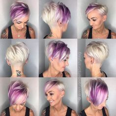 #Sideswept Bangs #Wavy Lob #Blunt Bob #Slicked Back #Spiky Pixie #Edgy Pixie #Textured Bob #Curly Afro #Ombré Lobs #Pixie #hairstyle ideas #hairstyle for short hair #wavy hairstyle #hairstyle tutorial #hairstyle step-by-step Edgy Pixie Hairstyles, Edgy Short Haircuts, Undercut Hairstyles, Short Hair Cuts, Cool Hairstyles, Short Hair Styles, Summer Hairstyles, Hairstyle Ideas, Hair Ideas