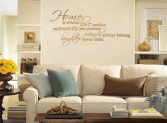 Home is Where Love Resides Giant Wall Decals