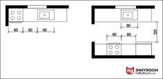 Фотография:  в стиле , Кухня и столовая, Советы, Эргономика, Степан Бугаев, планировка маленькой кухни, «Победа дизайна», как расставить мебель на кухне, эргономика кухни, эргономика маленькой кухни, как расставить столы на кухне, высота кухонных ящиков, на какой высоте расположить кухонную мебель, инфографика – фото на InMyRoom.ru